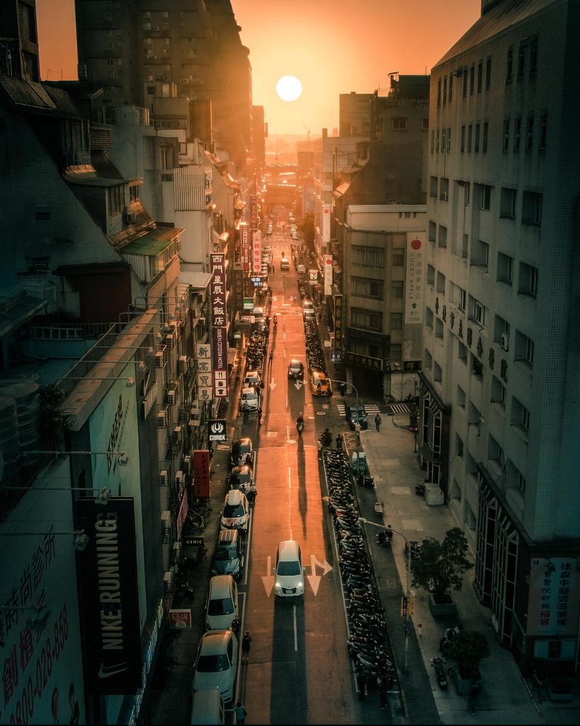 Manhattanhenge at Taipei